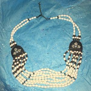 Jewelry - Multi layered plastic beaded hobo necklace